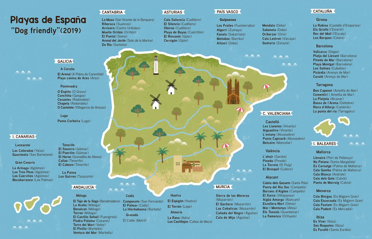 Playas para perros España 2019