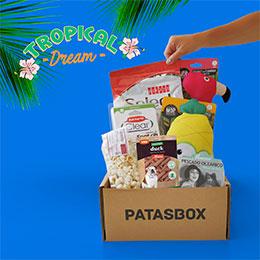caja de productos para perros Patasbox caja de septiembre Tropical Dream